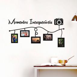 Adesivo de Parede Momentos Inesquecíveis (Porta Retratos Inclusos)