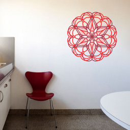Adesivo Decorativo Mandala Colorida