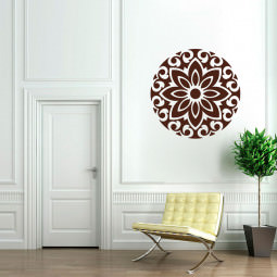 Adesivo Decorativo Mandala Flor Ixoria