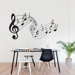 Adesivo de Parede Partitura Musical