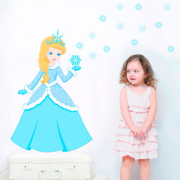 Adesivo de Parede Princesa do Gelo
