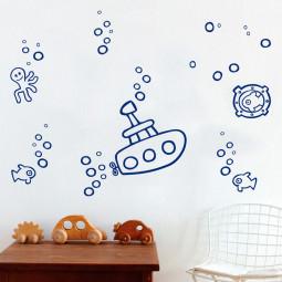 Adesivo Decorativo Submarino