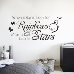 "Adesivo de Parede ""When it Rains, Look for Rainbows..."""