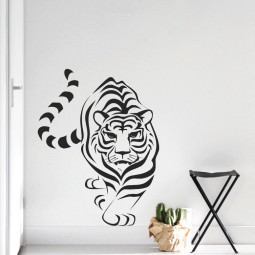 Adesivo de Parede Tigre Natureza