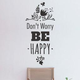 Adesivo de Parede Dont Worry Be Happy
