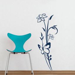 Adesivo Decorativo de Parede Floral Ludmila