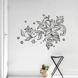 Adesivo de Parede Floral Arabesco