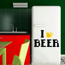 Adesivo Decorativo I Love Beer