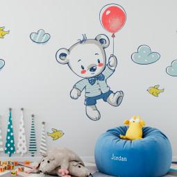 Adesivo de Parede Infantil Ursinho Balão