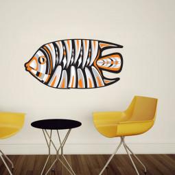 Adesivo de Parede Peixe Abstrato