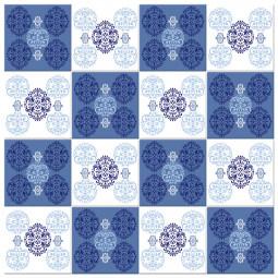 Adesivo para Azulejo Português Hidráulico Arabesco Azul