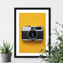 Quadro Decorativo Câmera Retrô