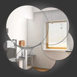 Espelho Decorativo Espiral de Bolas