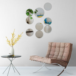 Espelho Decorativo Círculo de Bolas