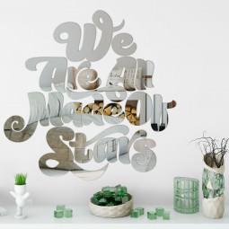 "Espelho Decorativo Frase ""We Are All Made Of Stars"""