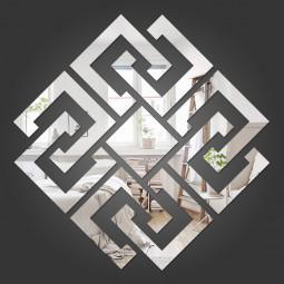 Espelho Decorativo Losango Abstrato