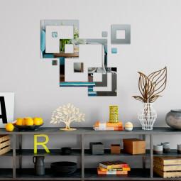 Espelho Decorativo Quadrados Abstratos