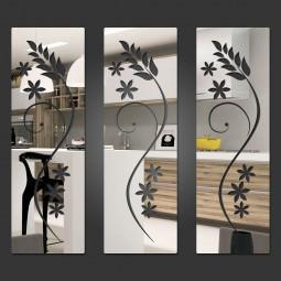 Espelho Decorativo Quadrados Florais
