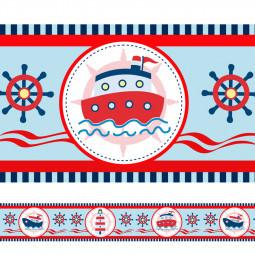 Faixa Decorativa Barco e Farol Marinheiro