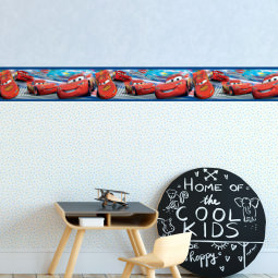 Faixa Decorativa Infantil Carros Relâmpago Mcqueen - Disney - Rolo com 5 Metros