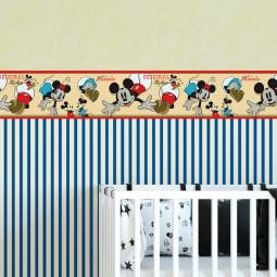 Faixa Decorativa Infantil Mickey & Minnie - Disney - Rolo com 5 Metros