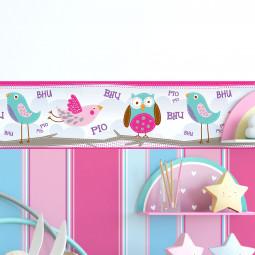 Faixa Decorativa Infantil Corujas - Has#Tag - Rolo com 5 Metros