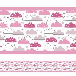 Faixa Decorativa Nuvens Divertidas Rosa