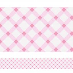Faixa Decorativa Xadrez Rosa