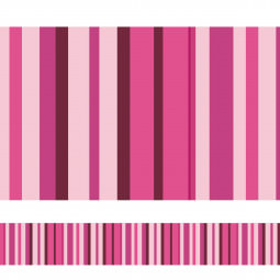 Faixa Decorativa Listrada (Tons de Rosa)