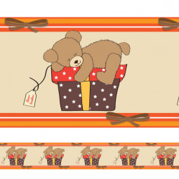 Faixa Decorativa Urso Dorminhoco