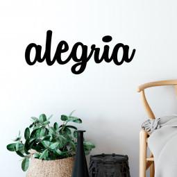 "Palavra Decorativa 3D ""Alegria"""