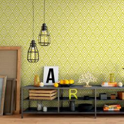 Papel de Parede Abstrato Amarelo
