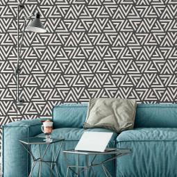 Papel de Parede Decorativo Triângulos Abstratos