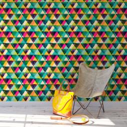 Papel de Parede Triângulos Abstratos Coloridos