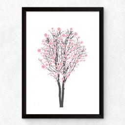 Quadro Decorativo Flor de Cerejeira