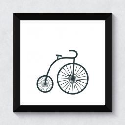 Quadrinho Decorativo Bike Retro