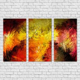 Conjunto de Quadros Decorativos Abstratos - Em Canvas