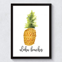 Quadro Decorativo Aloha Beaches