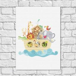 Quadro Decorativo Infantil Arca de Noé