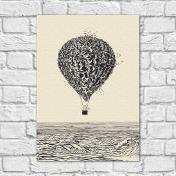 Quadro Decorativo Balão Abstrato - Em Canvas