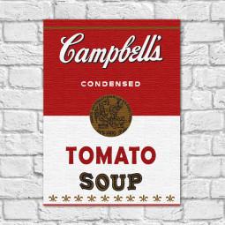 Quadro Decorativo Campbells Soup Vintage ( Em Canvas )