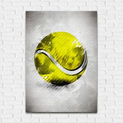 Quadro Decorativo Bola de Tênis Aquarela - Em Canvas