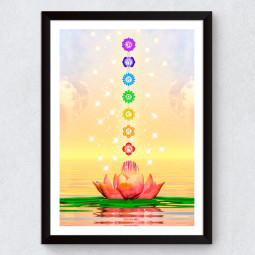 "Quadro Decorativo ""Flor de Lotus Chakras"""
