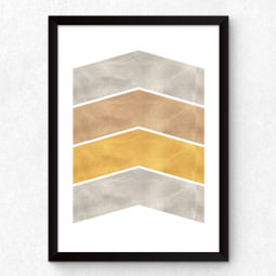 Quadro Decorativo Chevron