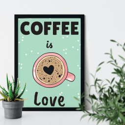 OUTLET-Quadro Decorativo Coffee is Love
