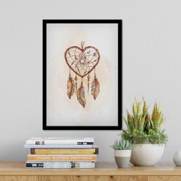 Quadro Decorativo Filtro dos Sonhos Coração
