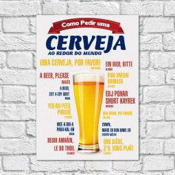 Quadro Decorativo Como Pedir uma Cerveja - Em Canvas