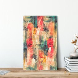 Quadro Decorativo Pintura Abstrata Traços de Tinta - Em Canvas