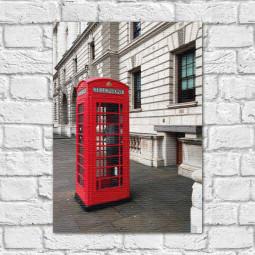 Quadro Decorativo Cabine Telefônica - Em Canvas