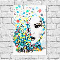 Quadro Decorativo Mulher Aquarela - Em Canvas